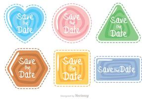Save The Date Swirl forma icone vettoriali Pack