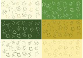 Free Vector Leaf Pattern Set