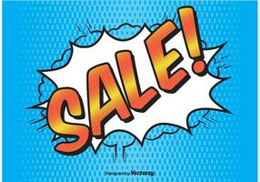 Comic Style Sale Background