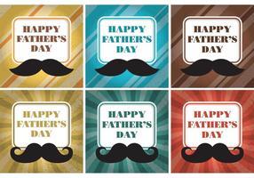 Vectores felices de la tarjeta del día de padre