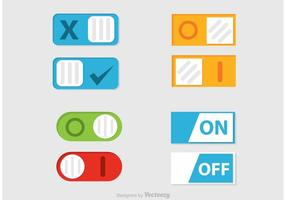 Toggle on Off Button Vector