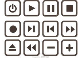Set Media Player Button Vector