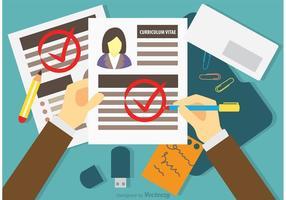 Vector de conceito de entrevista de emprego