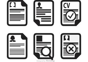 Curriculum Vitae Icons Vector