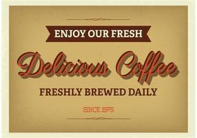 Cartel tipográfico del café del vintage