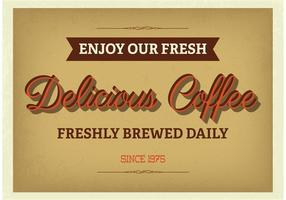 Poster tipográfico do café do vintage