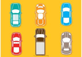 Bunte Topview Autos Vektor