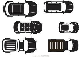 Autos Topview Vektor