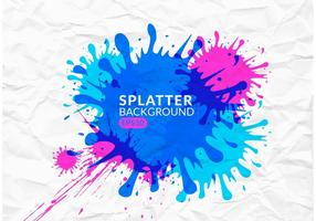 Colorful Splatter Vector Background