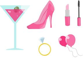 Pink Bachelorette Party Vectors