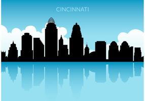 Vettore gratuito Skyline di Cincinnati