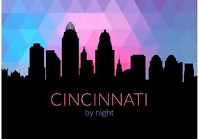 Gratis Cincinnati Skyline By Night Vector