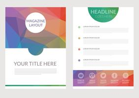 Gratis Abstracte Driehoekige Magazine Layout Vector