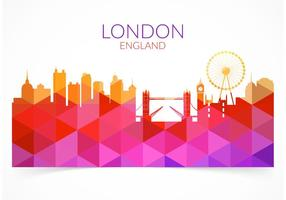 Gratis abstrakt Färgglada London Cityscape Vector