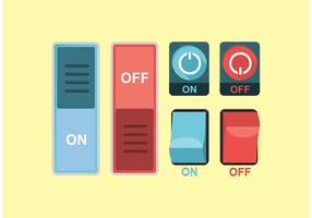 On Off Button Vector gratuito