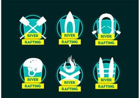 River Rafting Team Logo Vektoren