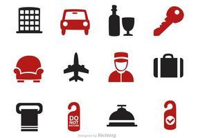 Vecteurs d'icônes de l'hôtel
