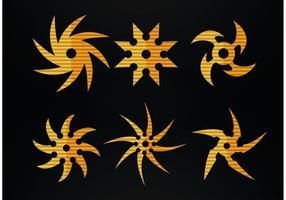 Ninja jogando vetores estelares