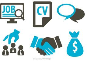 Job Business Concept Ikoner Vector