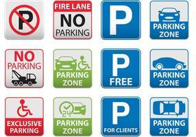 Vetores de sinal de estacionamento