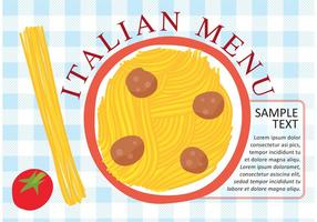 Pasta italiana placa vectorial