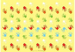 Child Handprint Pattern Vector