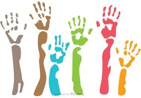 Raised Child Handprint Vectors