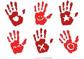 Handprint del bambino con i vettori di simbolo