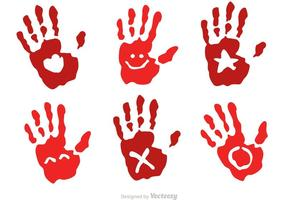 Handprint infantil com vetores de símbolos