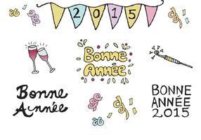 Free Bonne Année Vector Series