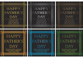 20's Happy Fathers Day Vector Backgrounds