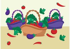 Vectores de cesta de alimentos