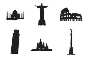 Vector landmarkgebouwen