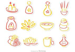 Beauty-Behandlung skizzieren Icons Vector Pack