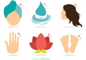 Collection Of Beauty Treatment Vectors Pack