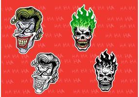 Evil Joker Vektoren