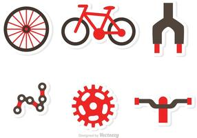 Vecteurs d'icônes de partie de vélo