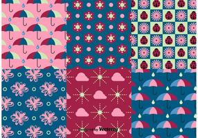 Spring and Summer Nature Pattern Vectors