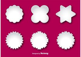 ... Blank Labels Vector Template ...