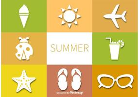Summer Vector Pictograms Set