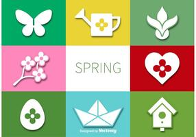 Vector Frühling Flat Iconset