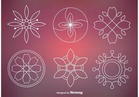 Resumen floral ornamento vectores