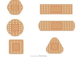 Set Of Bandaids Vectors