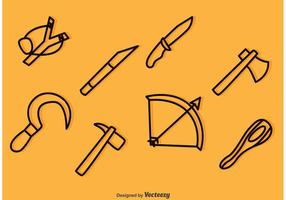Waffe Outline Icons Vektoren