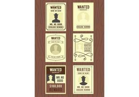 Vetores de cartaz usados procurados
