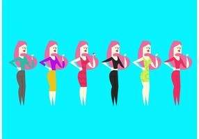Retro Barbie Doll Vectors
