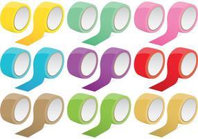 Vectores de cinta de colores