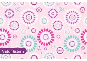 Retro Flower Pattern Vector Design