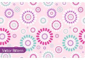 Retro Flower Pattern Vector Design