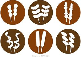 Street Food Icons Vectors